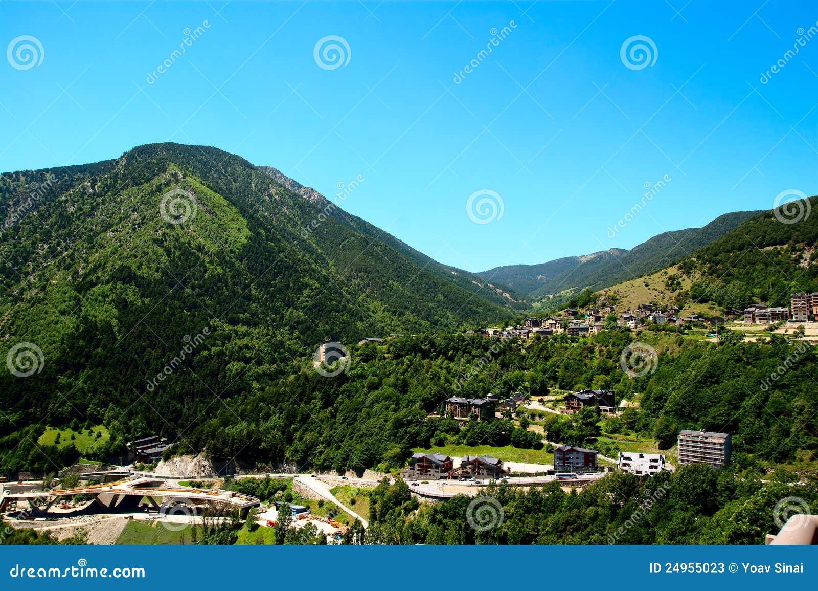 Landscape of Andorra Pyrenees