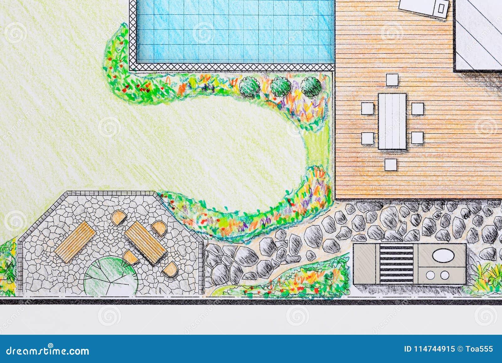 Landscape Architect Design Patio Backyard Plan