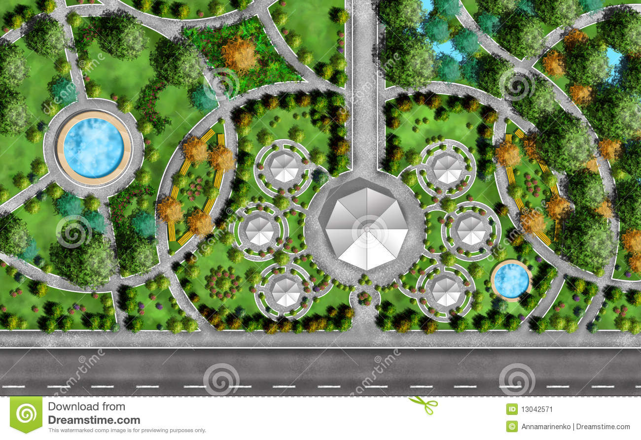 Landscape Architect Plan Landscape Architect Plan stock