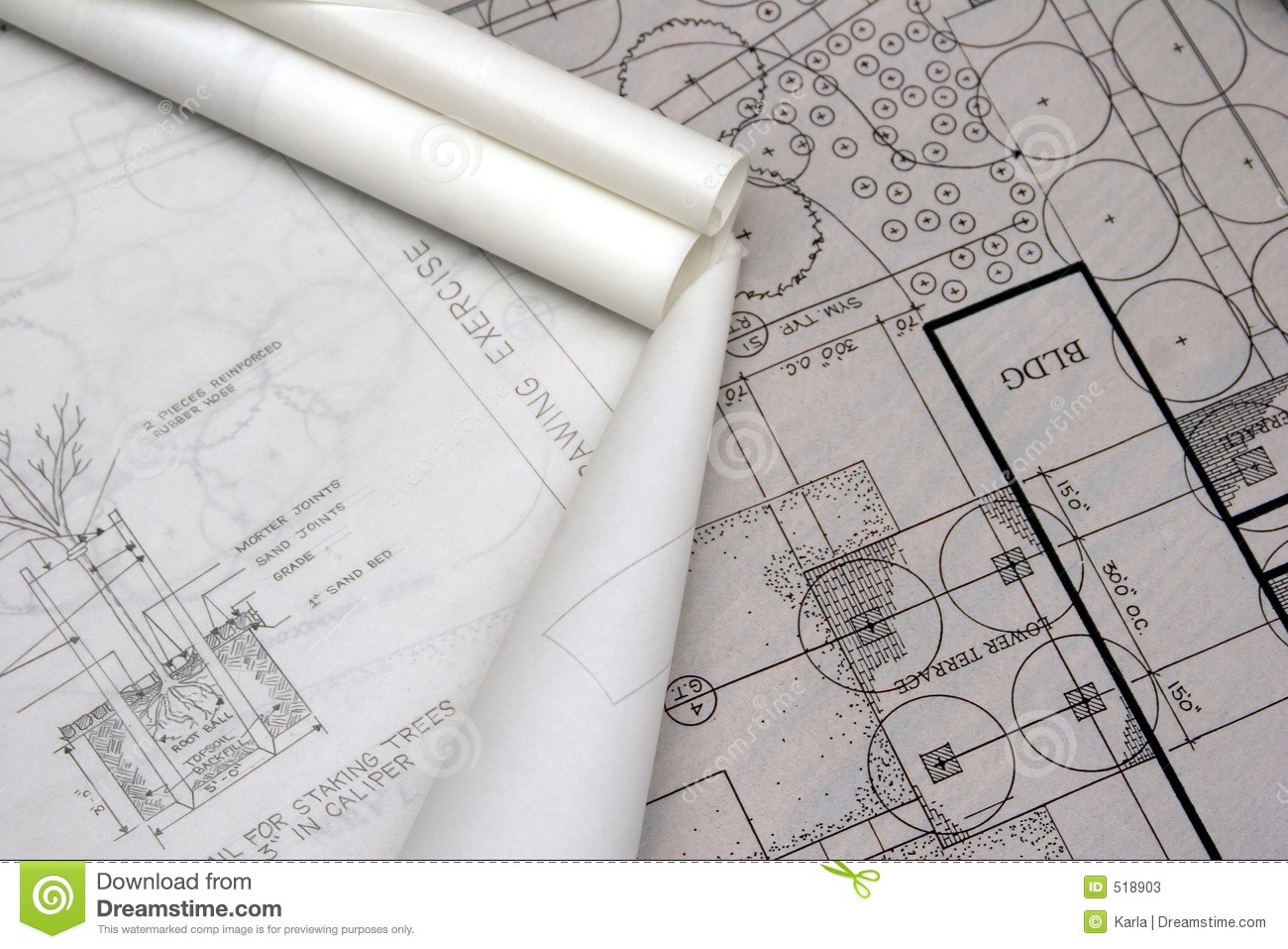 Landscape architectural drawings stock photos image 518903 for Landscape architect drawing