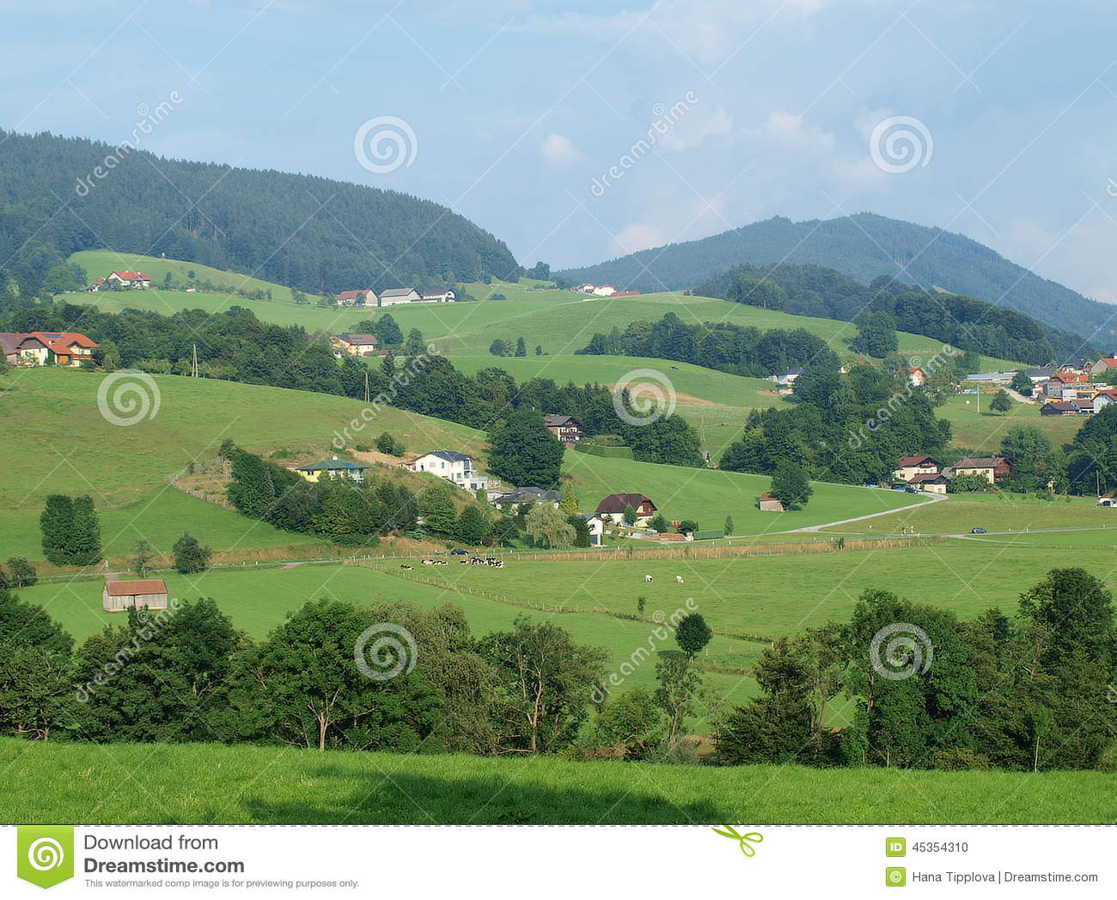 Landscape around Mondsee, Salzburgerland