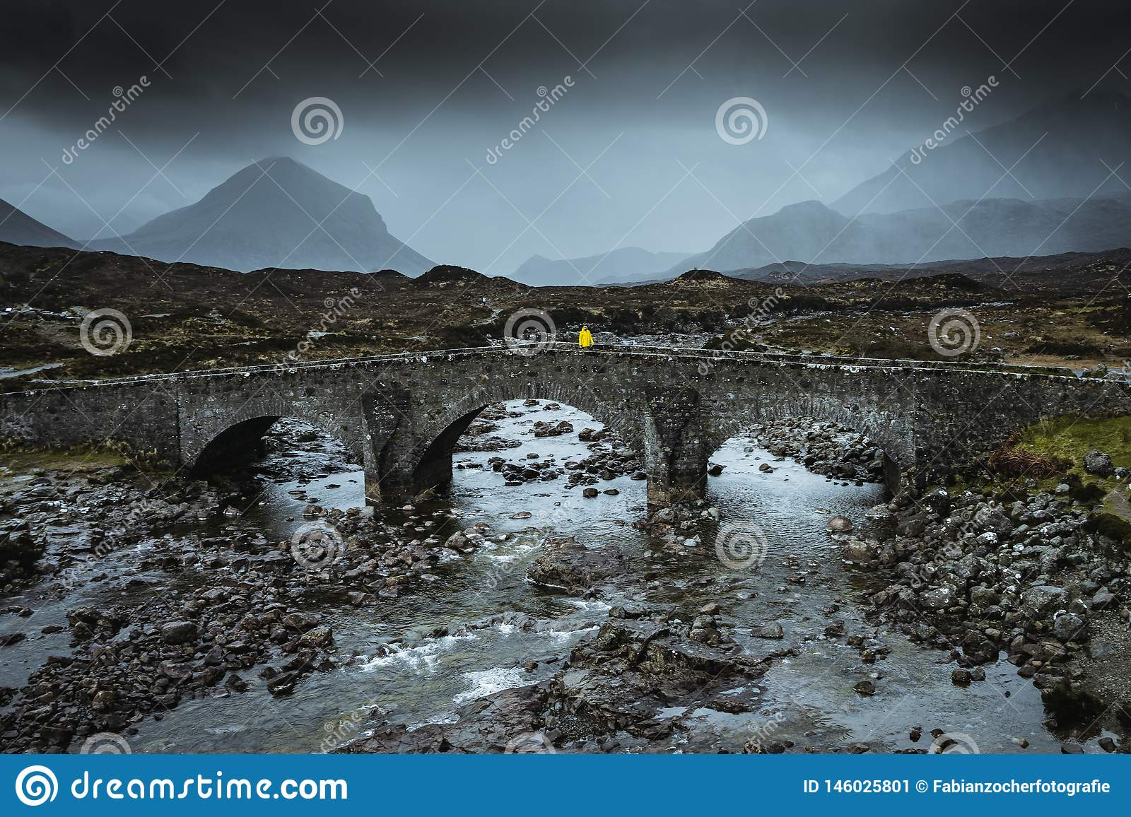 Sligachan old bridge in Scotland