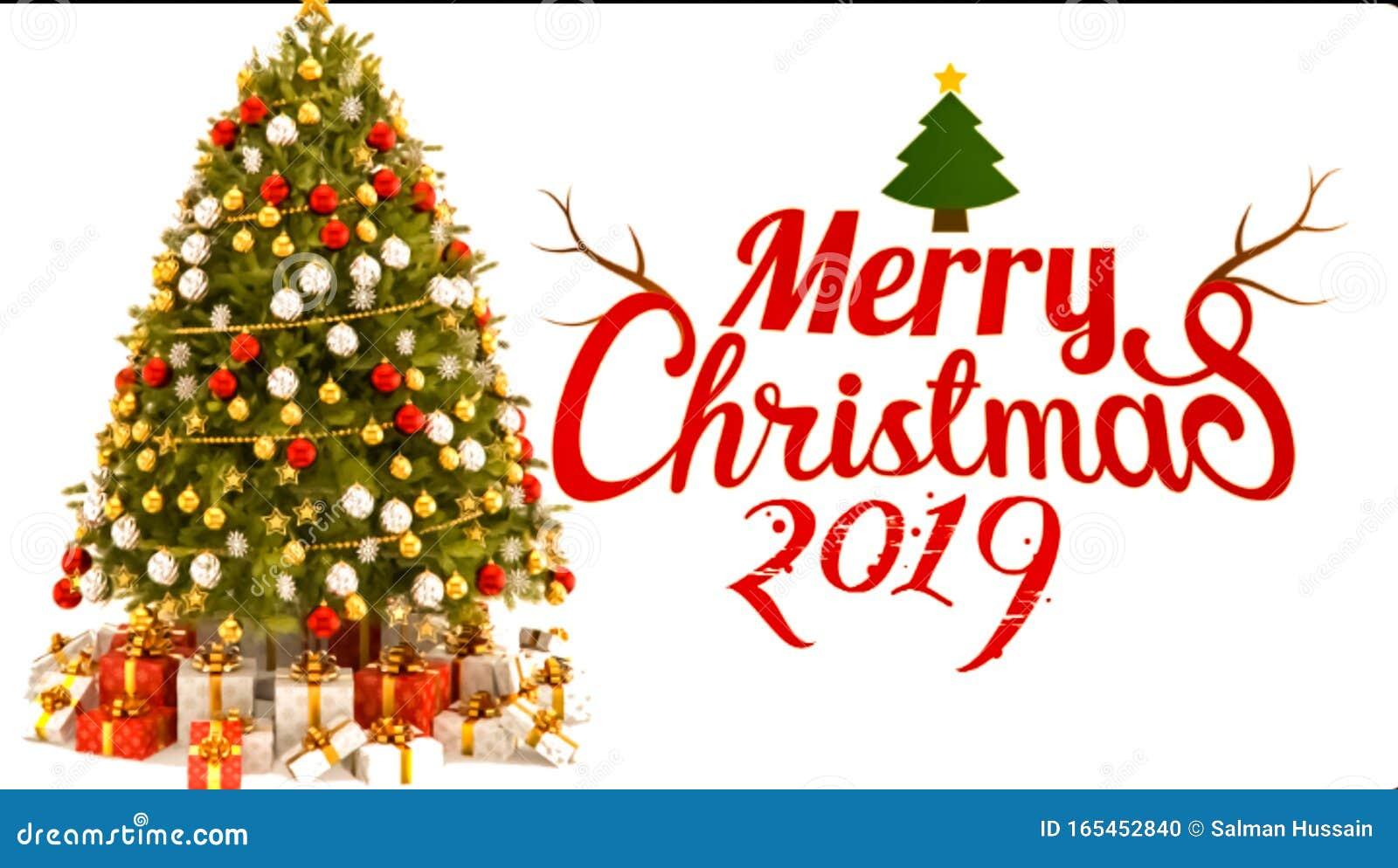 Landscape background of Merry Christmas celebration 2019