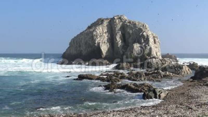 Landscape, Beach and seaside. Beach and seaside in Chile stock video