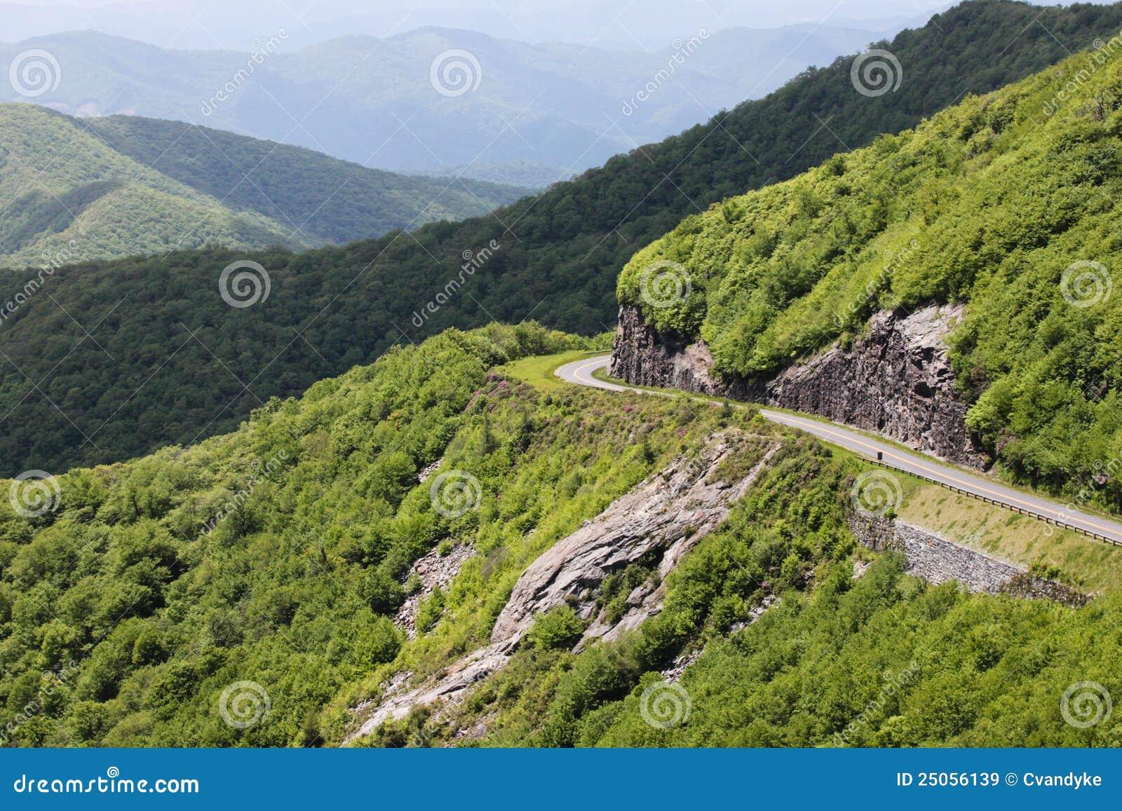 Landscape Blue Ridge Parkway North Carolina