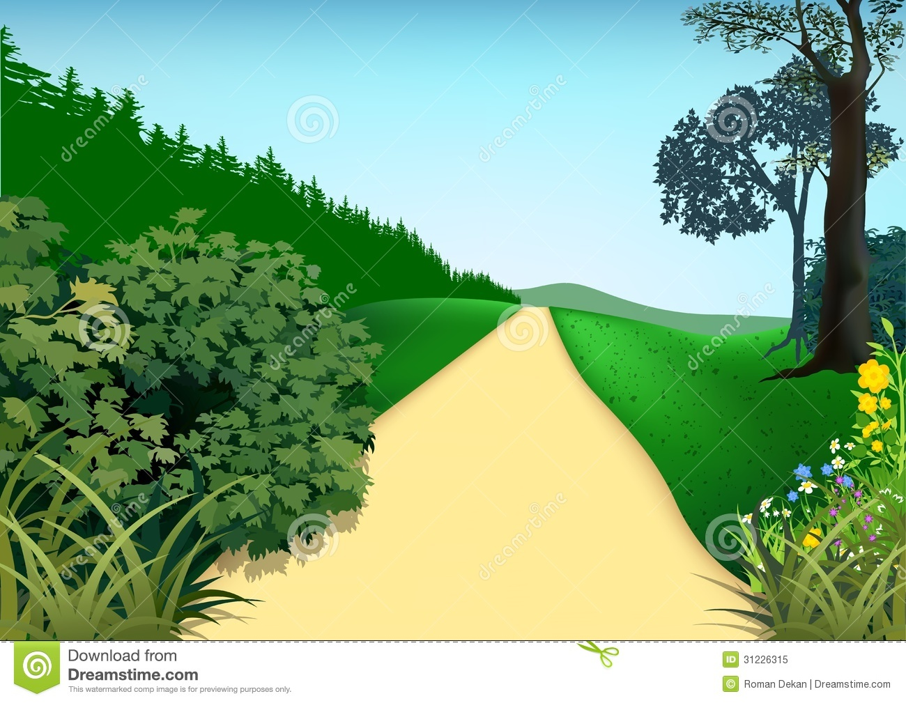 vector cartoon landscape backgroundsfree - photo #20