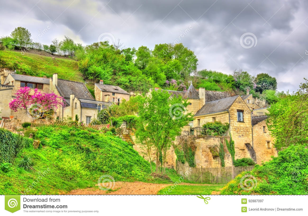 Landscape at the Chateau de Montsoreau on the bank of the Loire in France
