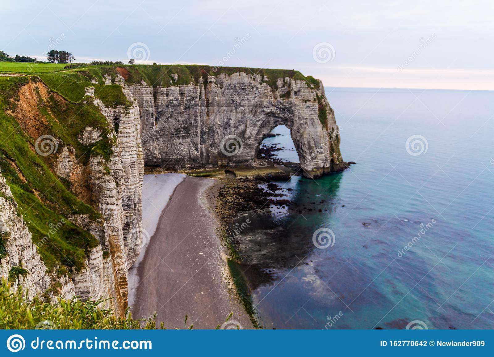 Landscape On The Cliffs Of Etretat France Stock Photo Image Of