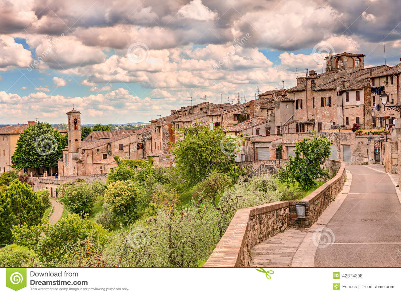 Colle Val D'Elsa Italy  city images : Landscape Of Colle Di Val D'Elsa, Tuscany, Italy Stock Photo Image ...