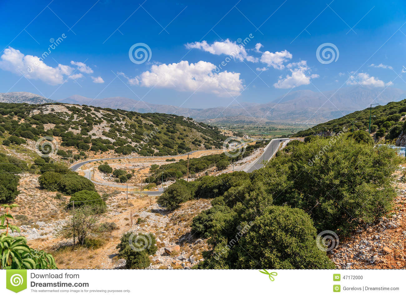 Landscape of Crete island at Lasithi district.