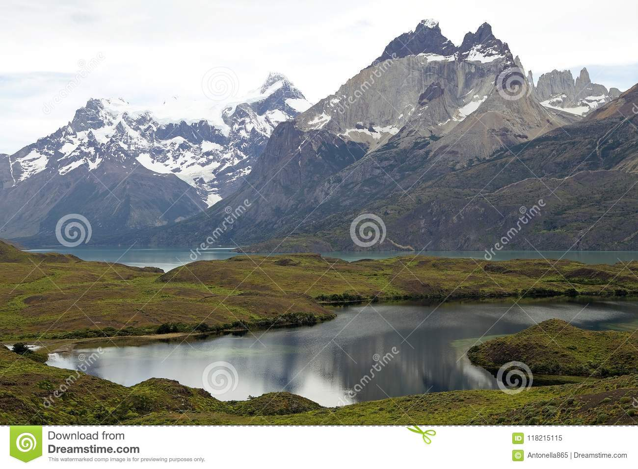 Cuernos del Paine in Torres del Paine National Park, Magallanes Region, southern Chile