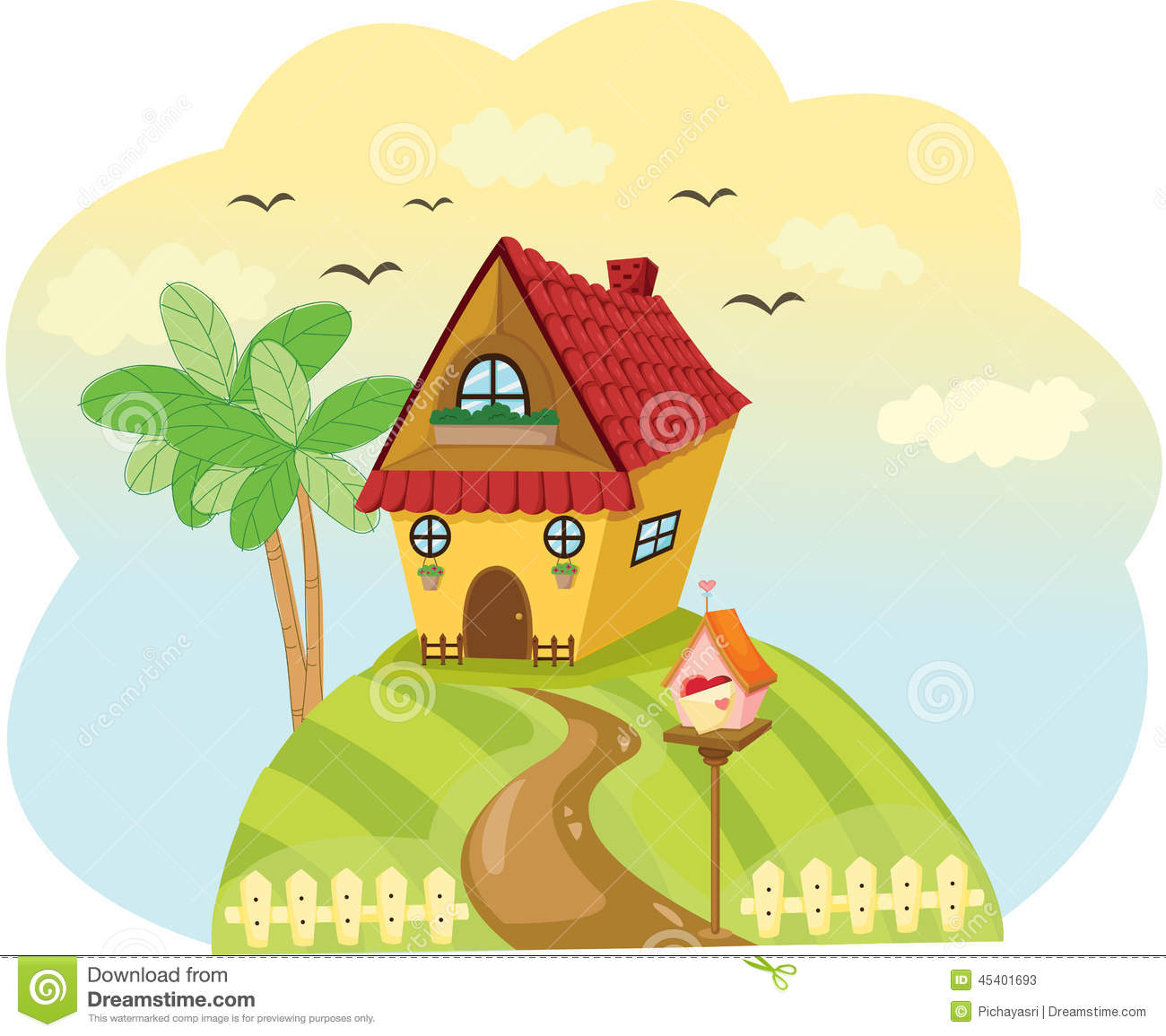 house on hill clipart - photo #18