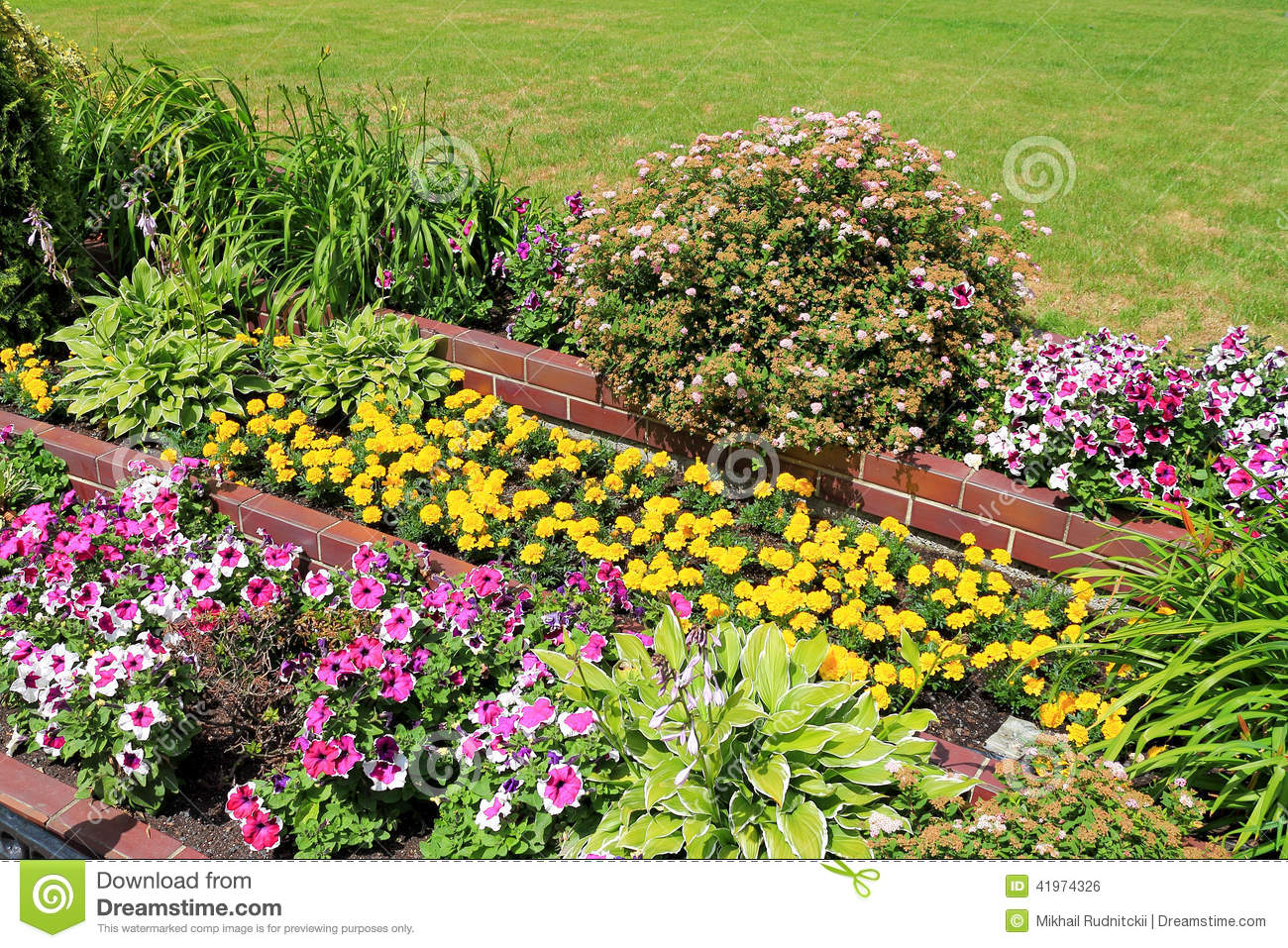 Landscape design stock photo image of decoration green for Landscape design flower beds