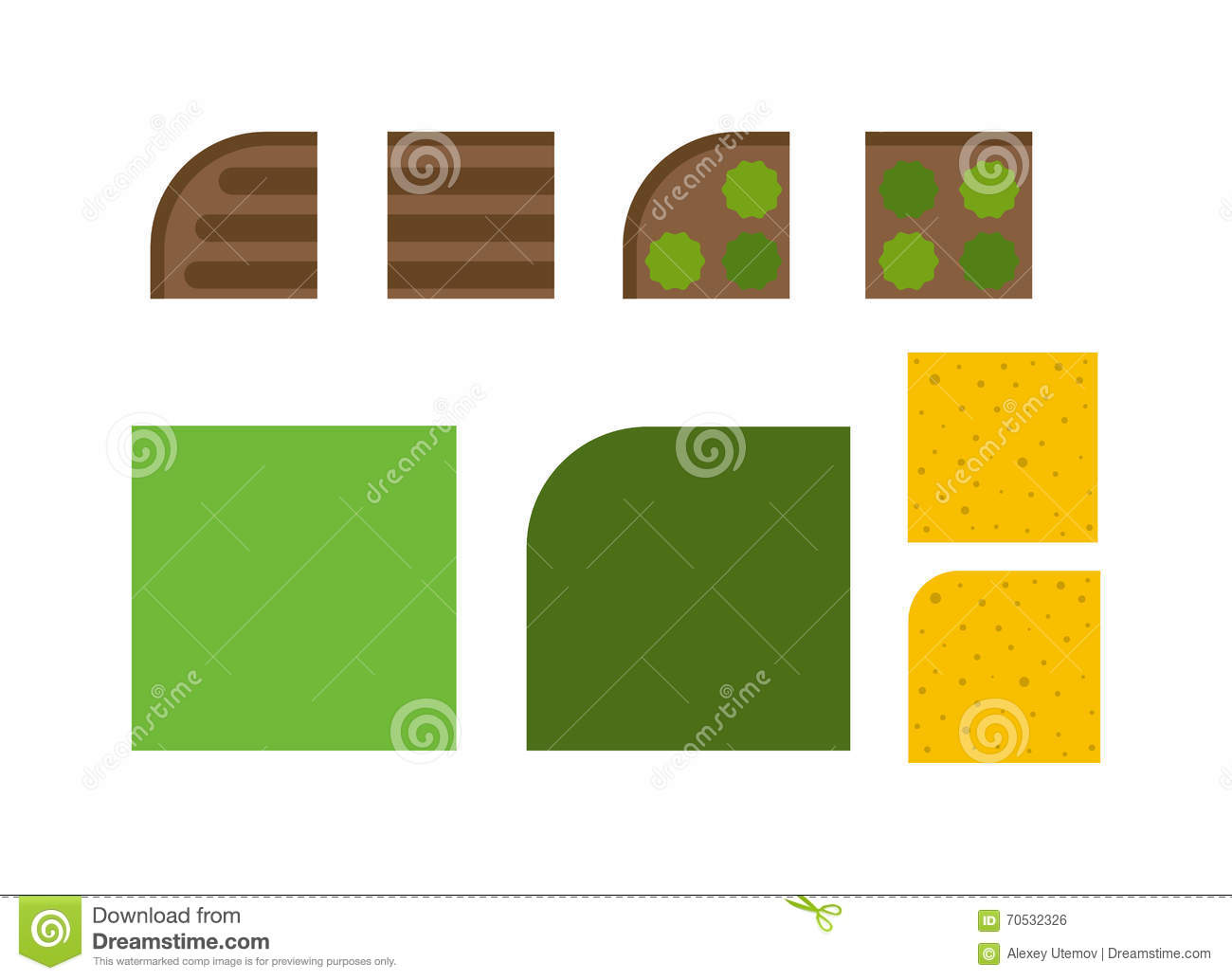 Landscape design elements garden plant top view vector illustration stock vector image 70532326 - Critical elements for a backyard landscaping ...