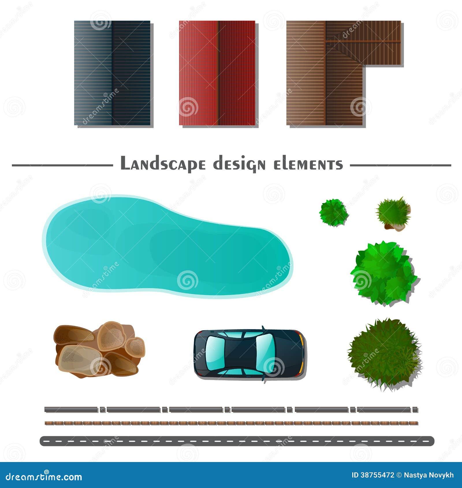 Landscape design elements stock photography image 38755472 for Garden design elements