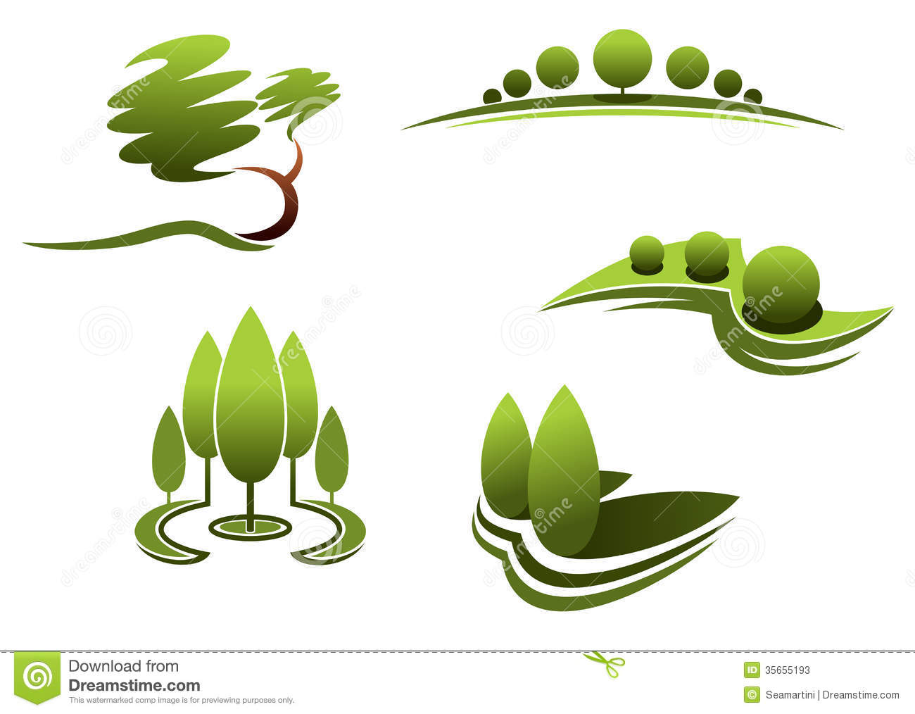 Landscape design elements stock vector illustration of for Garden design graphics
