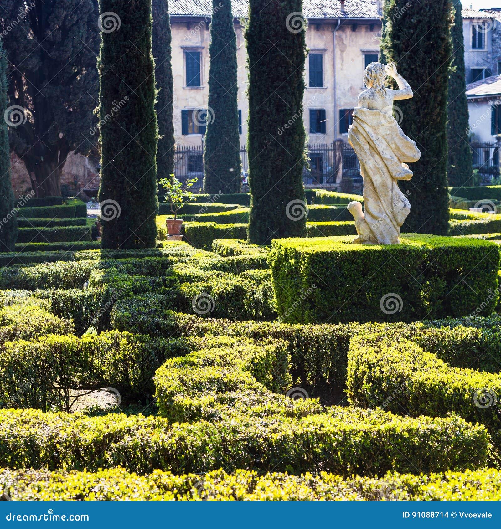 Landscape Design Of Giusti Garden In Verona City Editorial ...