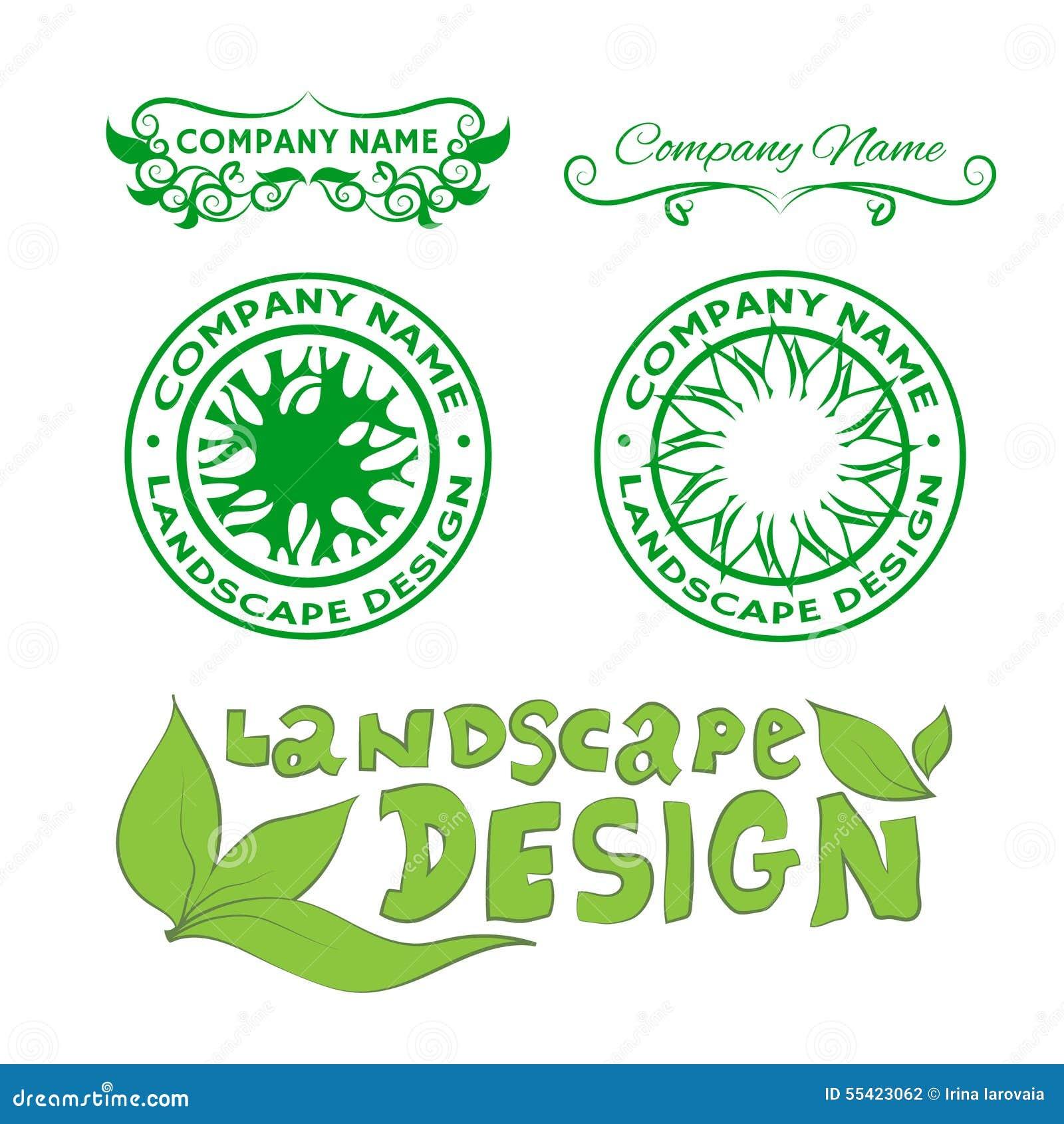 Landscape design logos stock vector. Illustration of over ...