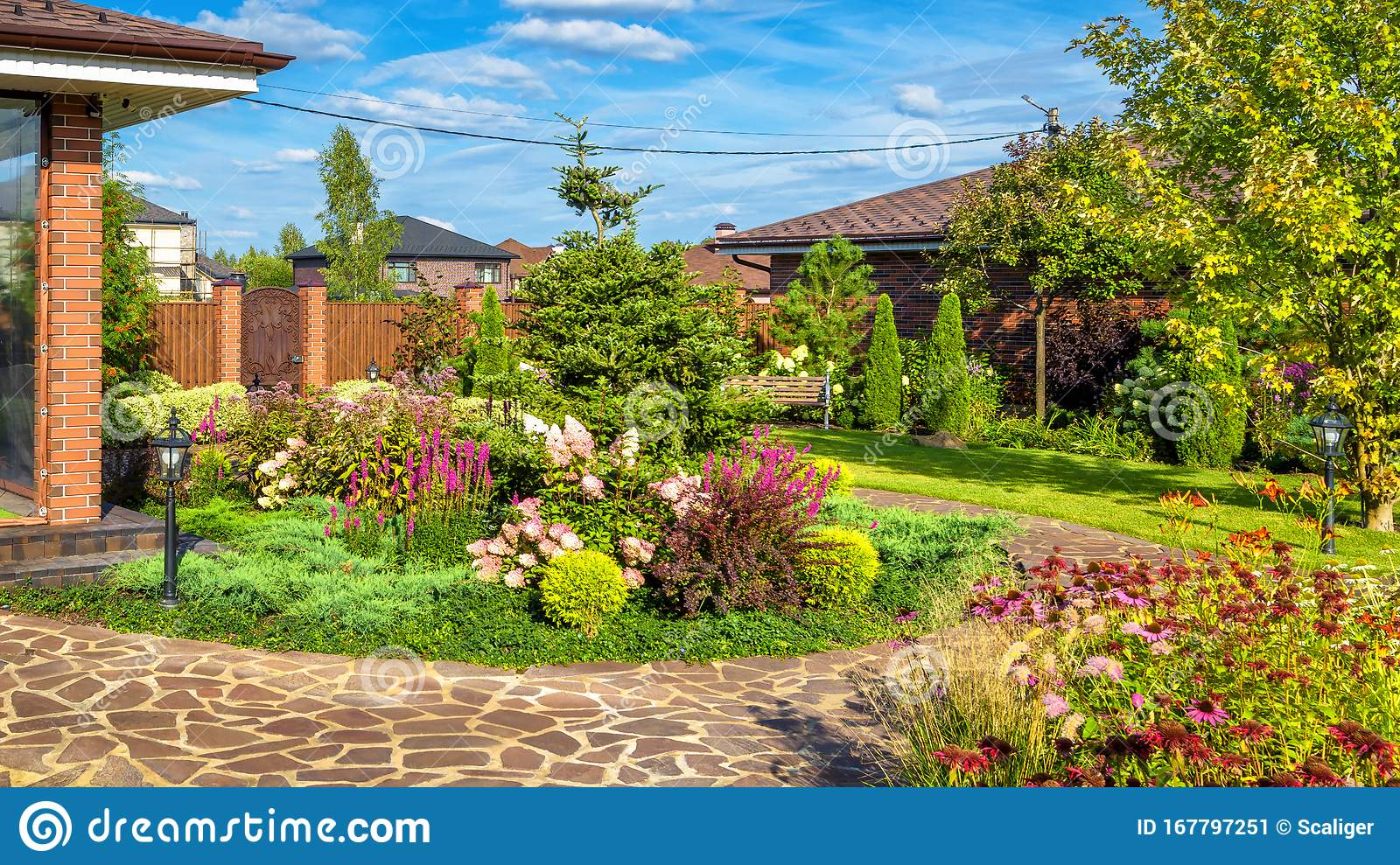 Landscape Design At Residential House Beautiful Landscaping In
