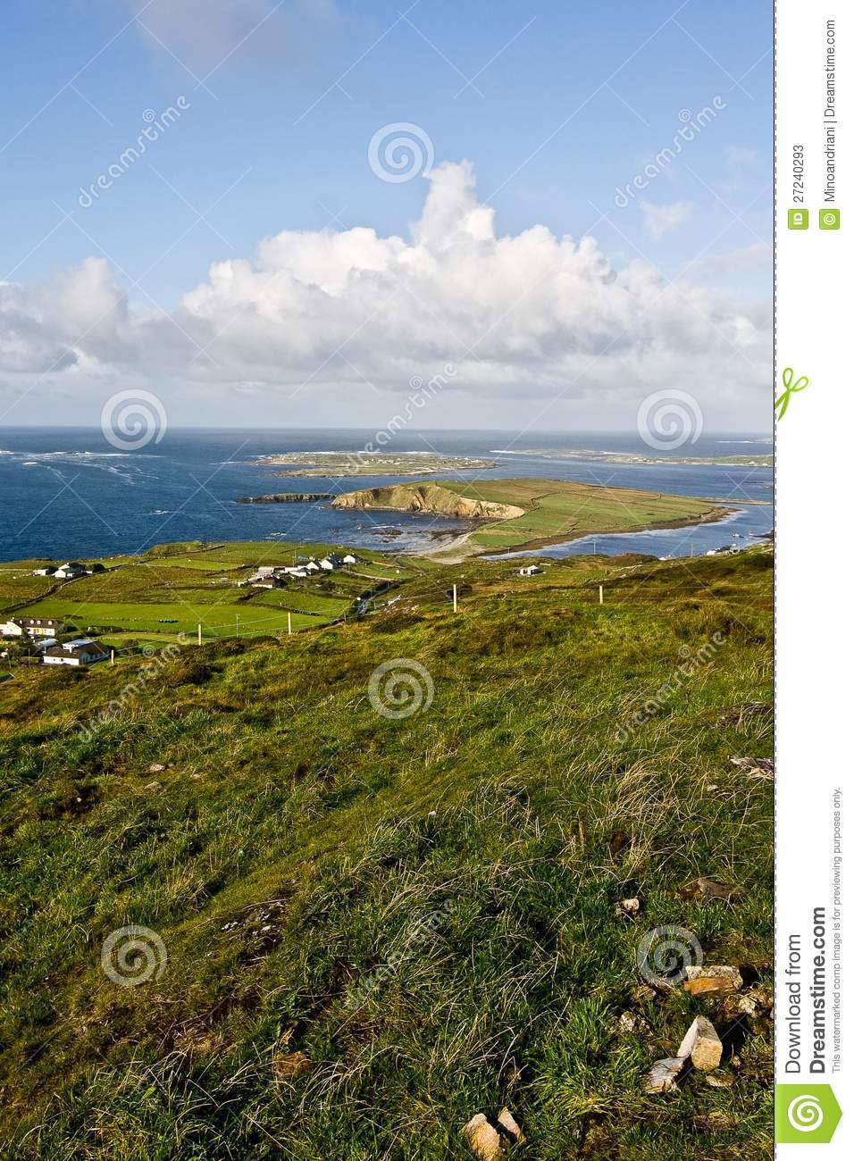 Landscape in dingle peninsula stock photos image 27240293 for Garden design kerry