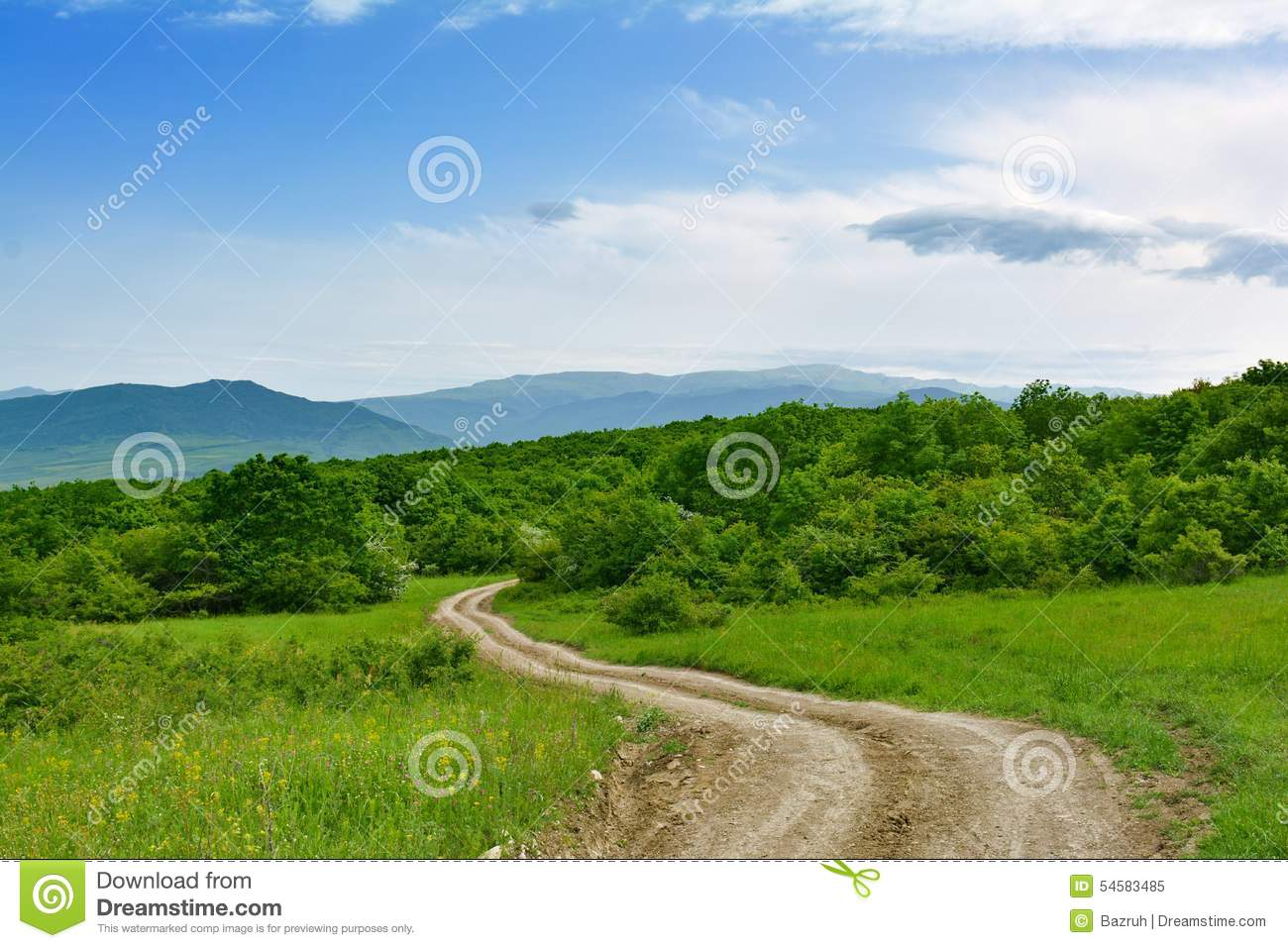 Landscape, dirt road
