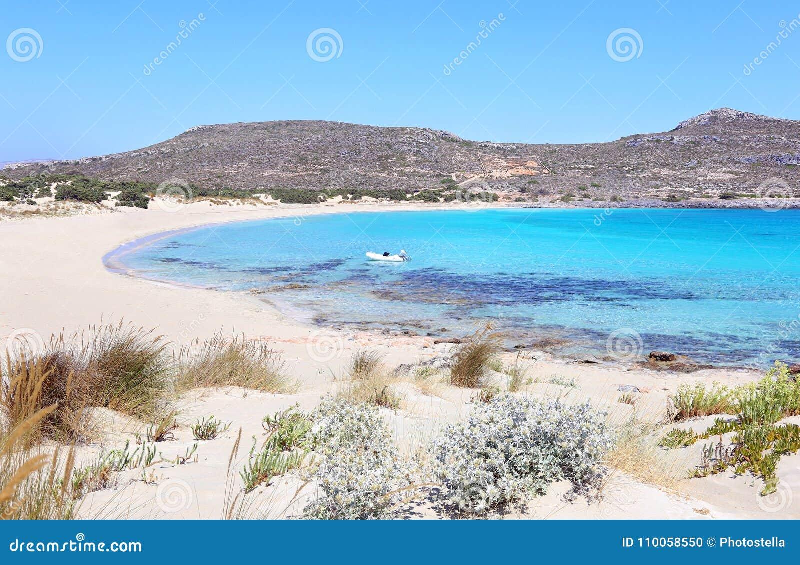 Landscape of Elafonisos beach Peloponnese Greece