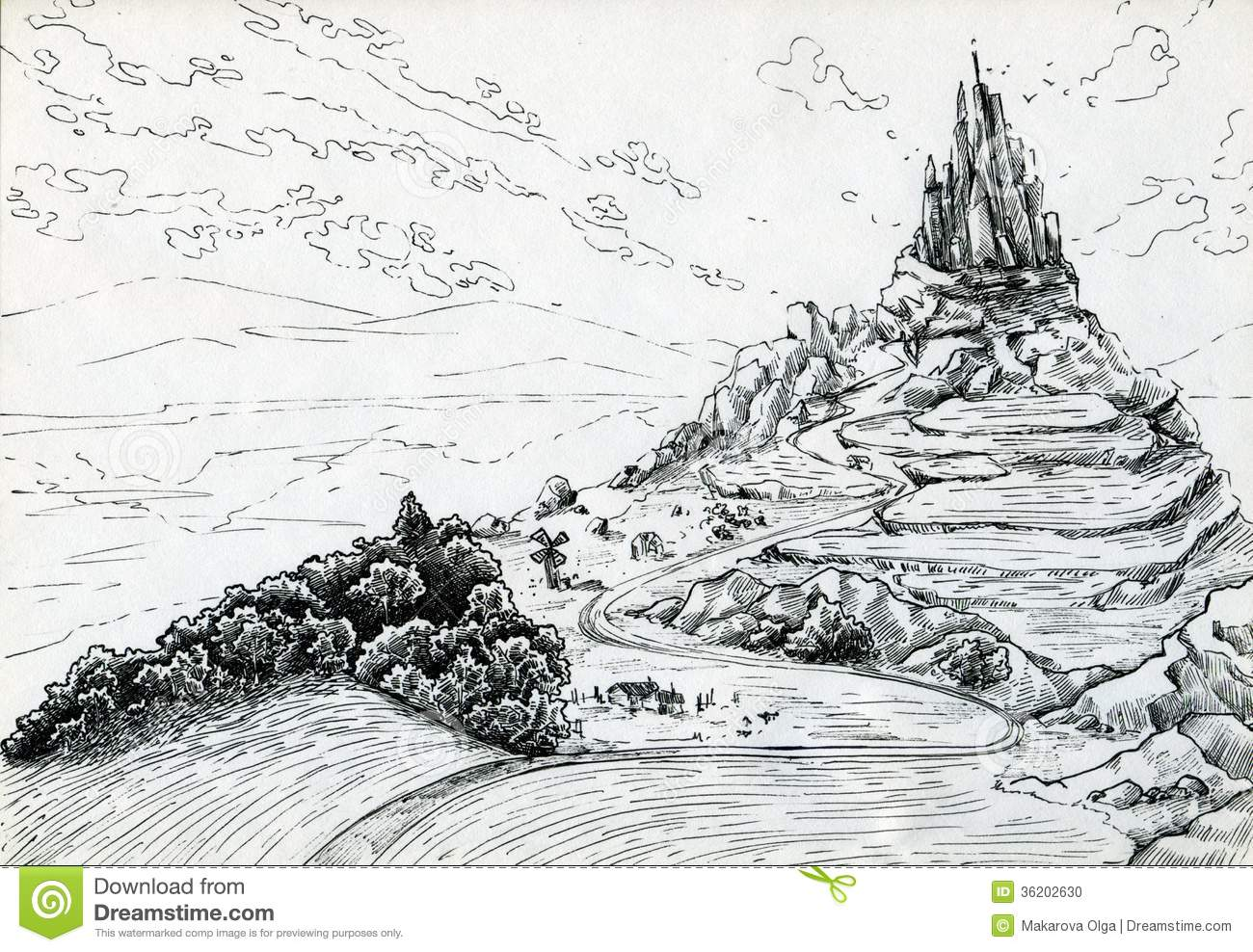 How To Draw Fantasy Landscape Art