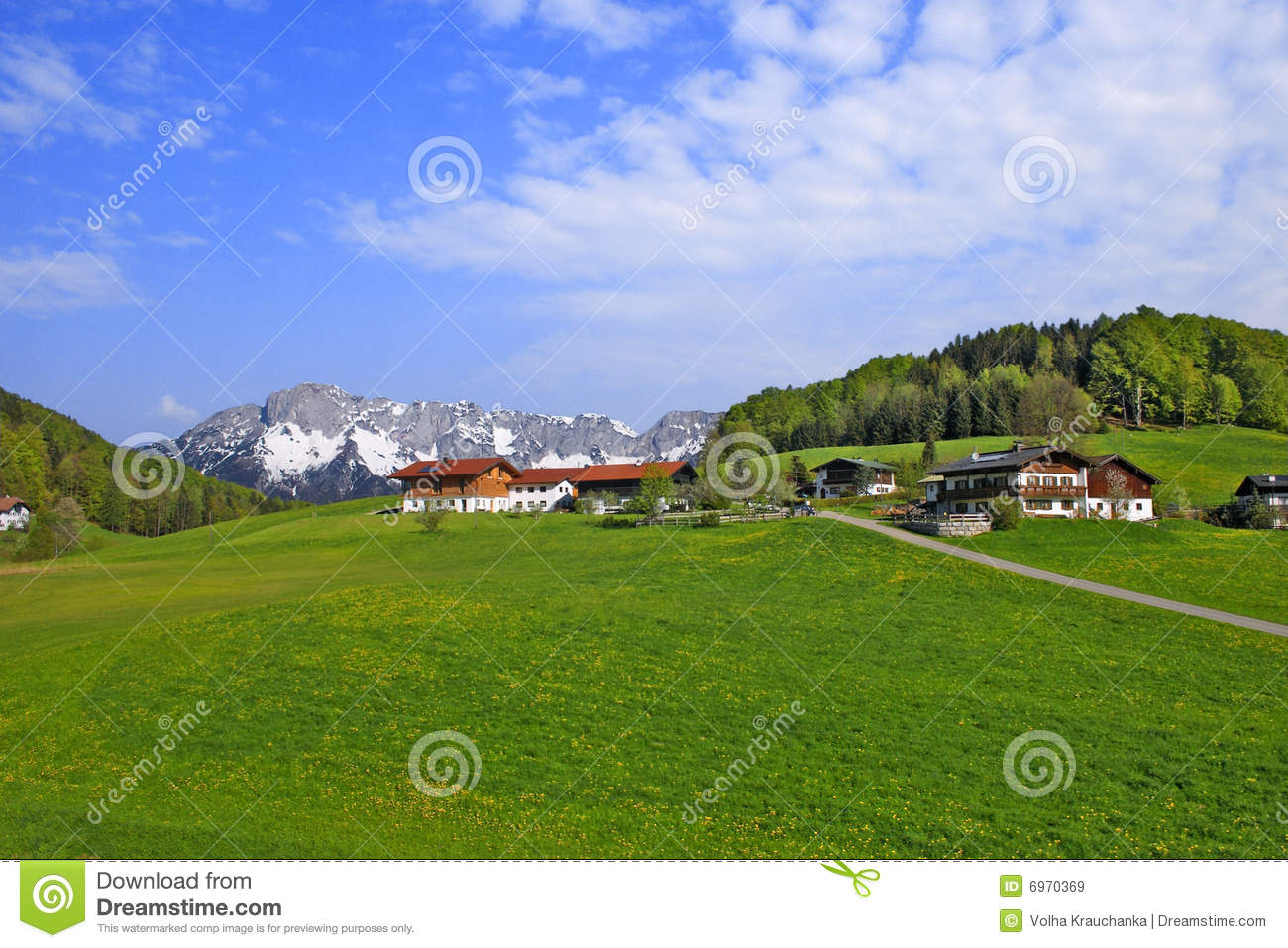 Landscape with farmer houses