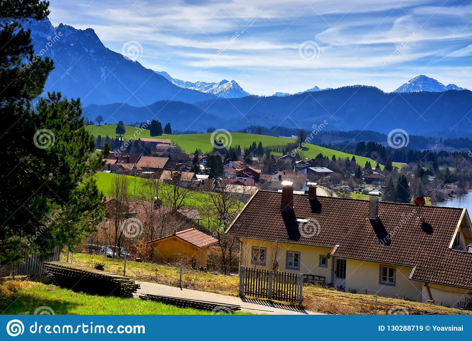Map Of Germany Landforms.Landscape Of Forggensee Lake In Germany Stock Image Image Of