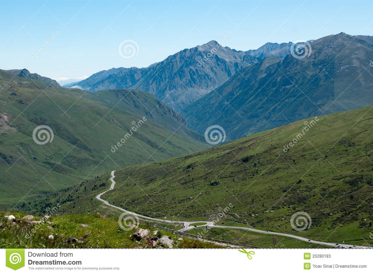 Landscape of French Pyrenees