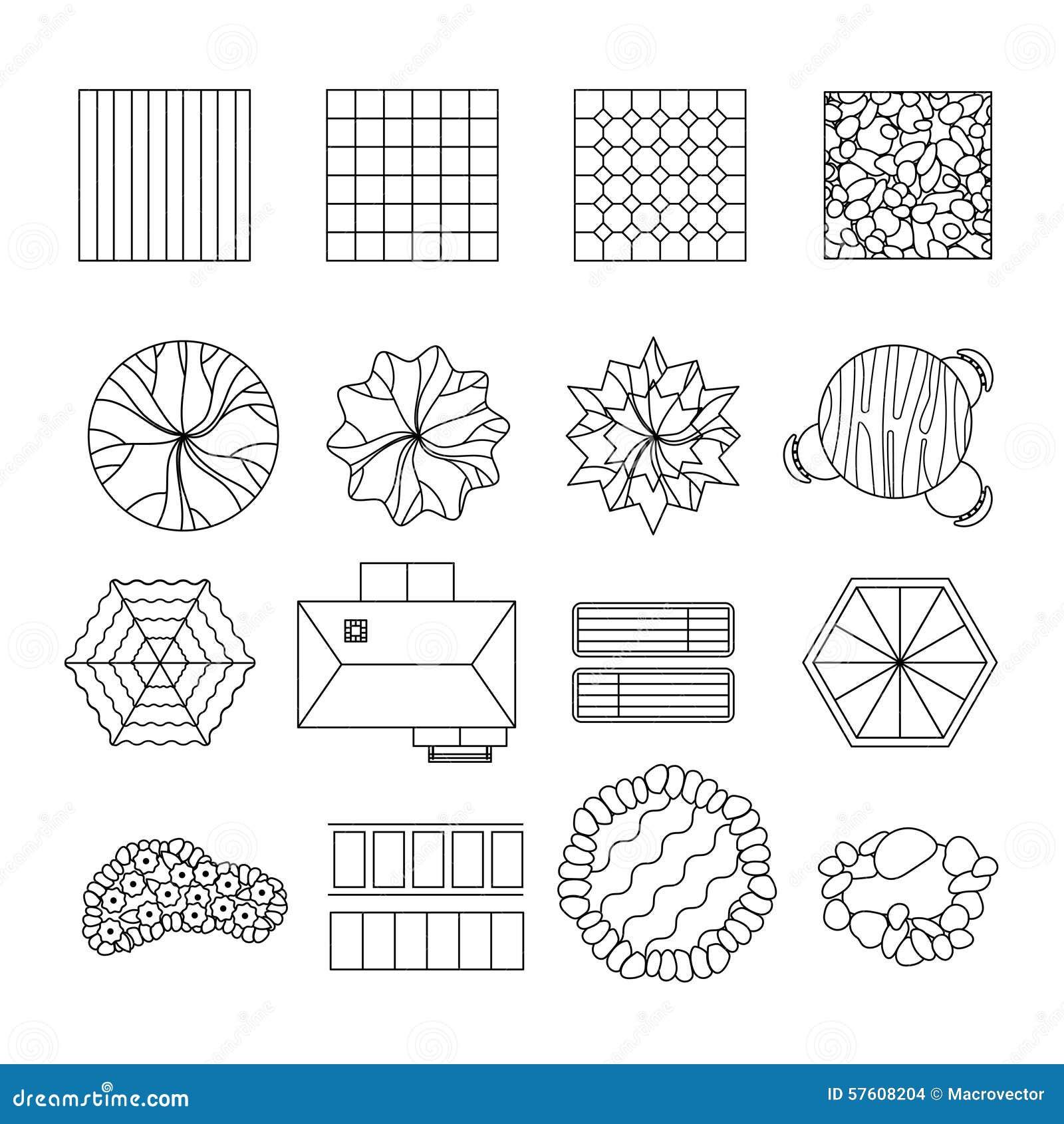 royalty free vector download landscape garden design elements - Garden Design Elements