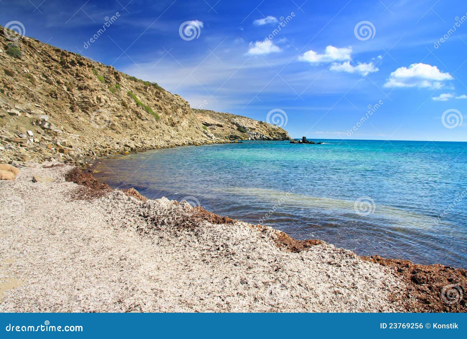 Landscape.Greece. Rhodes. Prasonisi. Royalty Free Stock Image - Image ...
