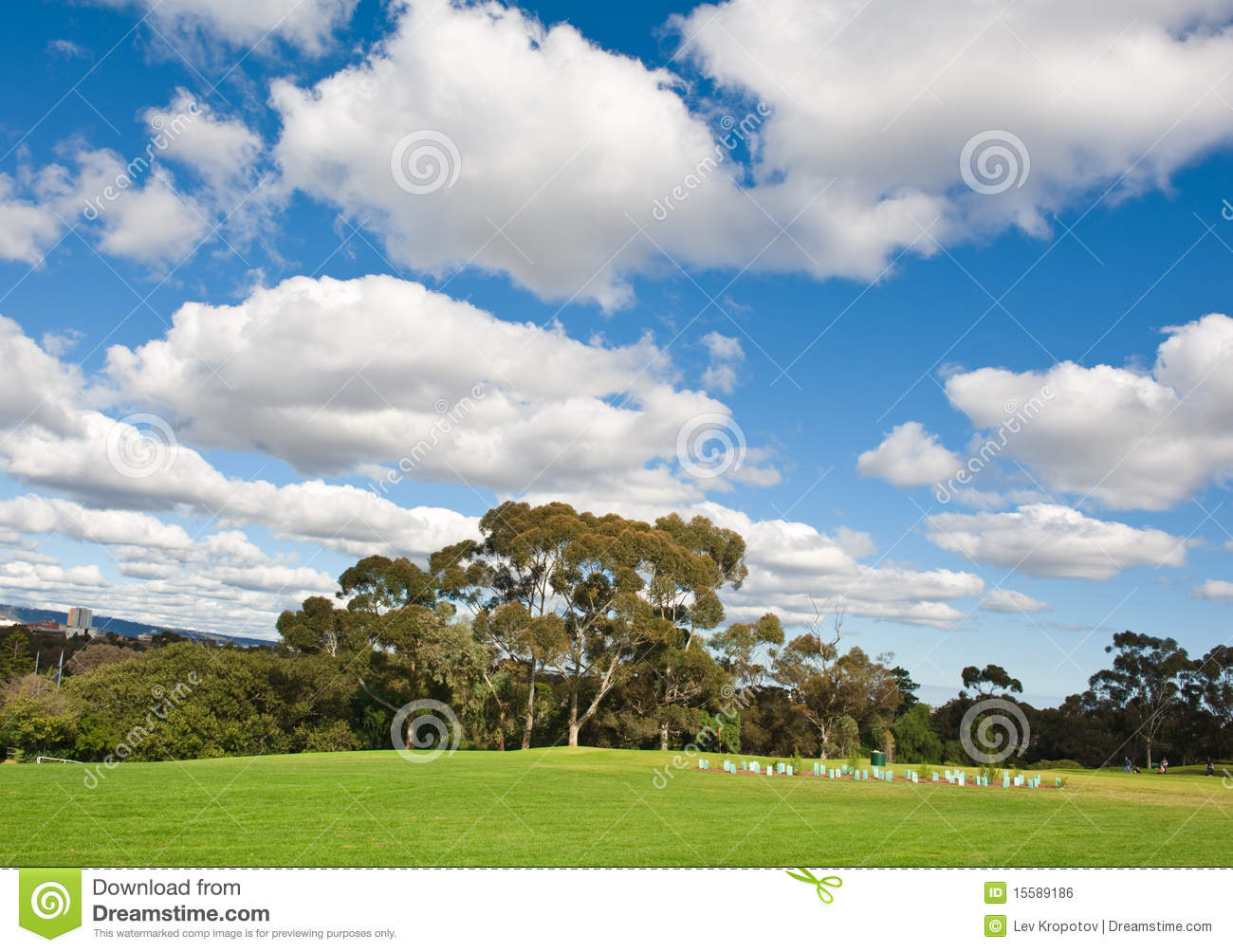 Landscape of a green golf field royalty free stock image for Landscape design courses adelaide