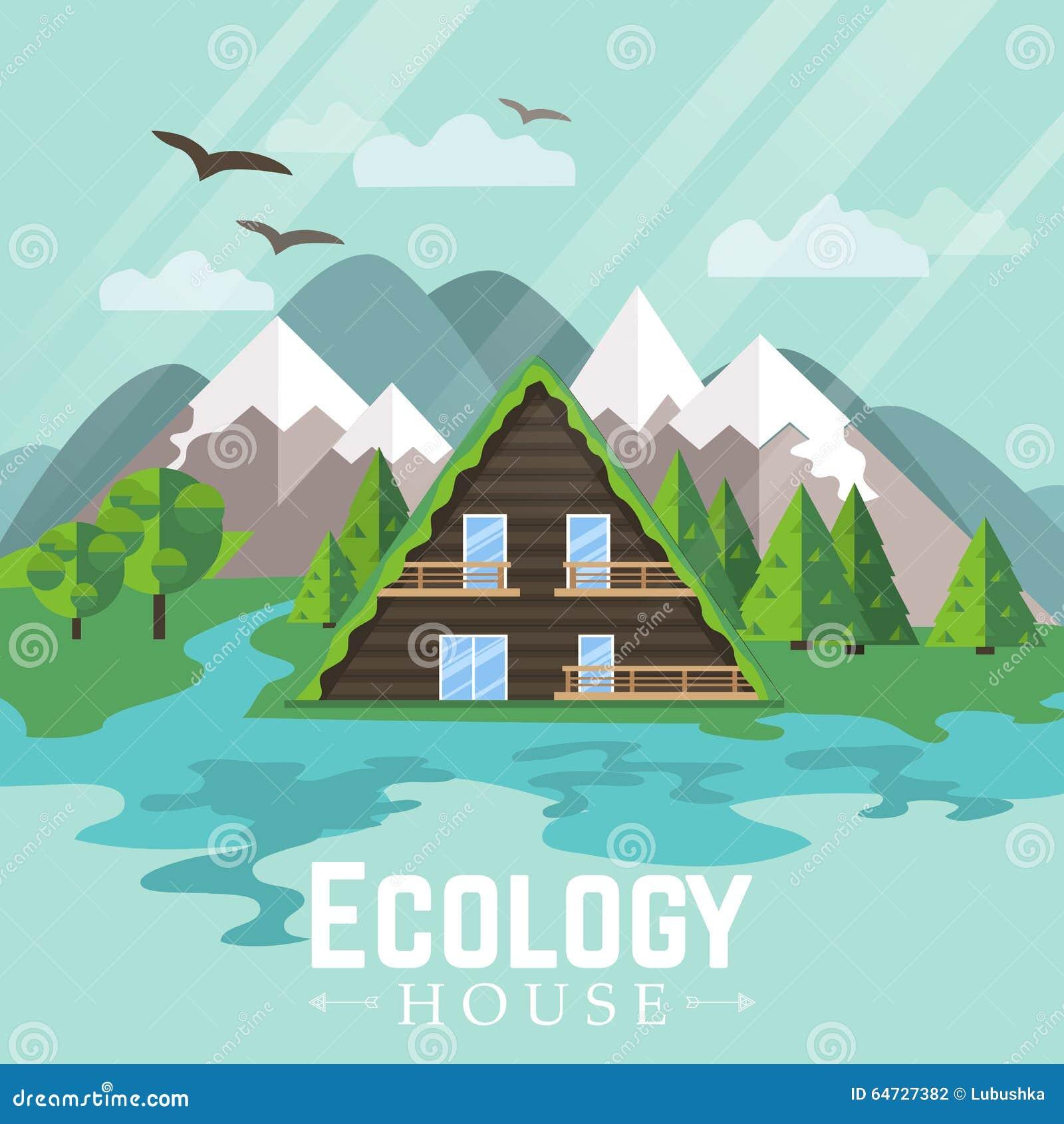 Landscape green house ecology stock vector image 64727382 for Fresh air garden designs