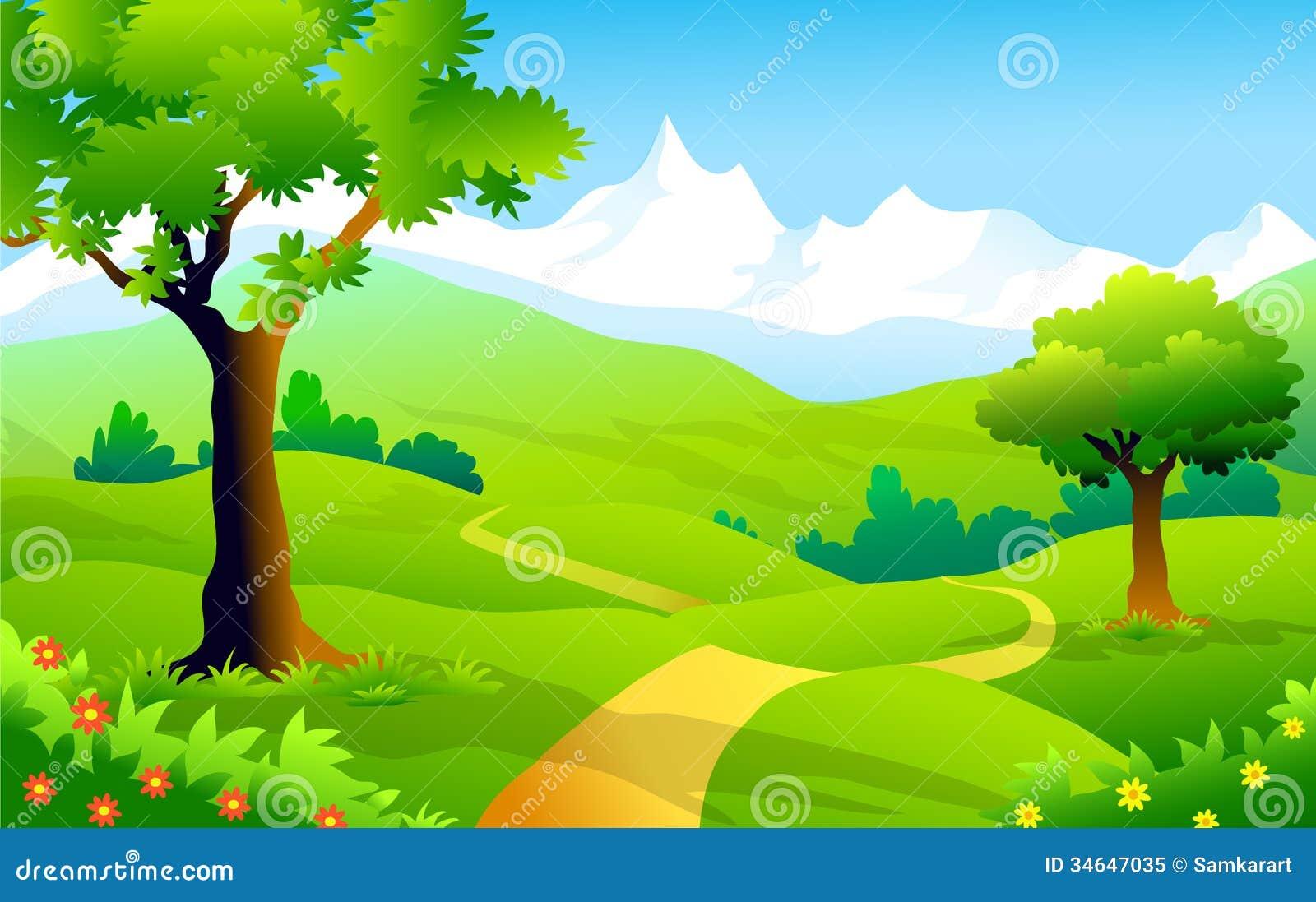 Landscape Illustration Vector Free: Landscape Of Himalaya-Vector Illustration Stock Vector