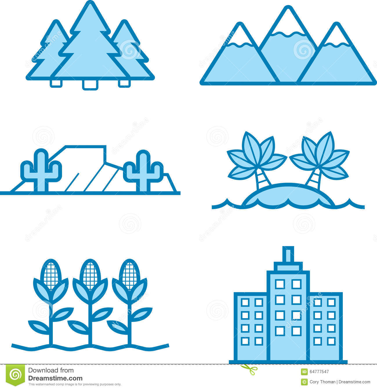 Landscape icon designs stock vector image 64777547 for Landscape design icons