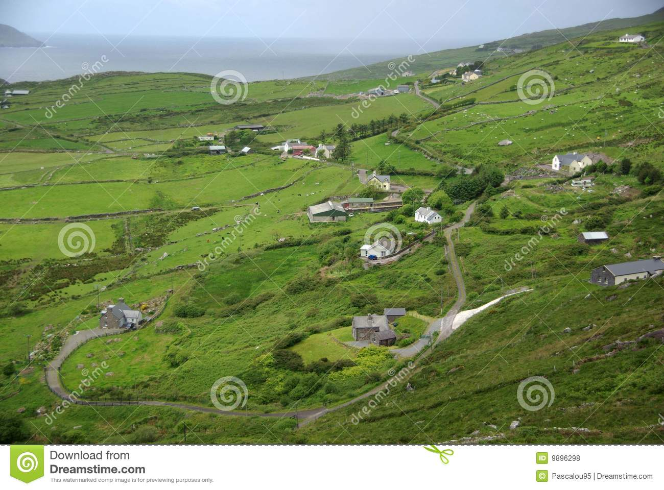 Landscape in ireland royalty free stock photos image for Garden design kerry