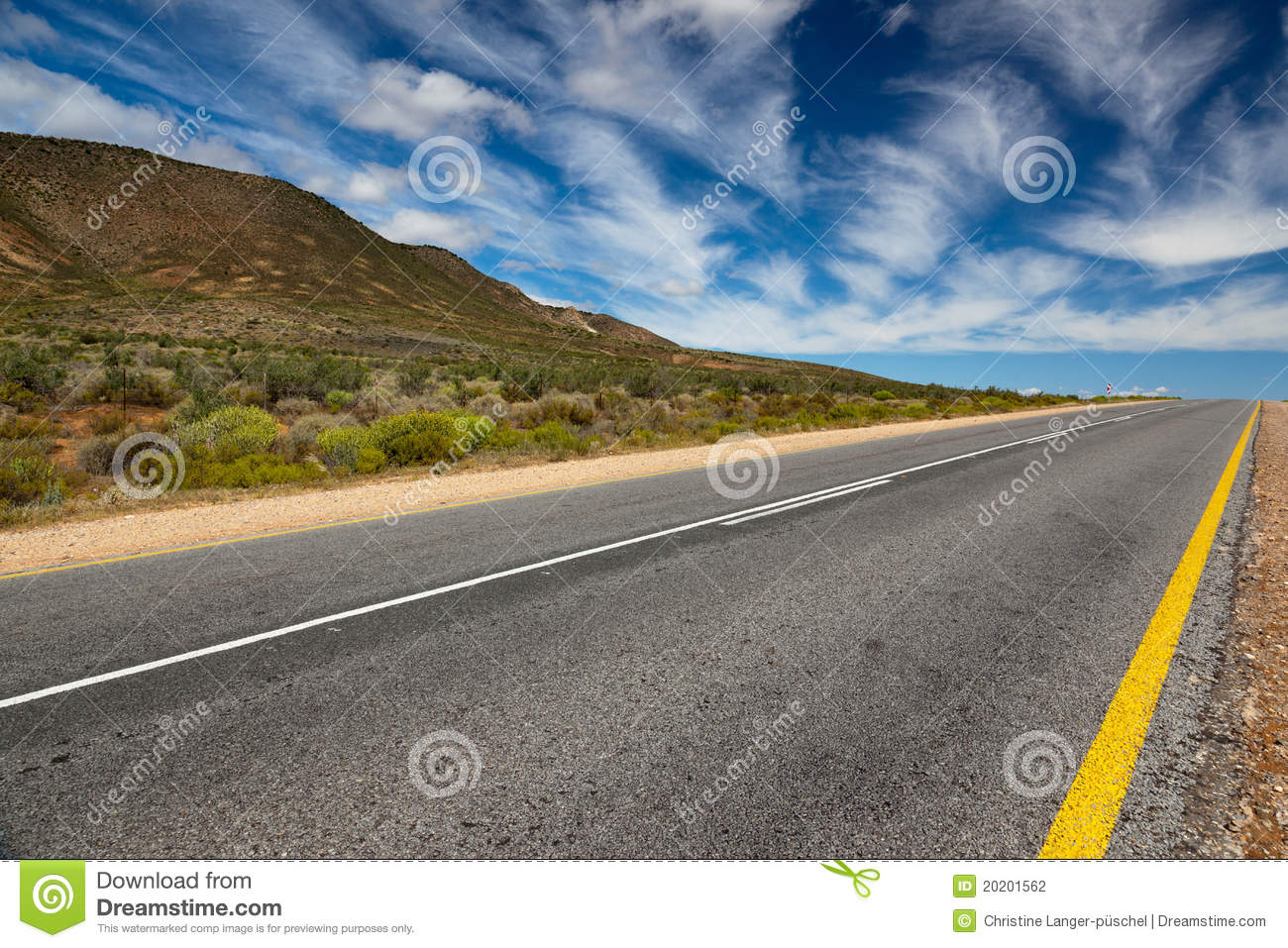 Landscape With Lonely Street Or Highway Stock Photography Image 20201562