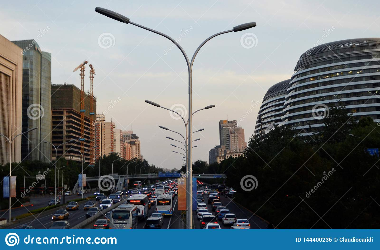Landscape of modern city, Beijing, China
