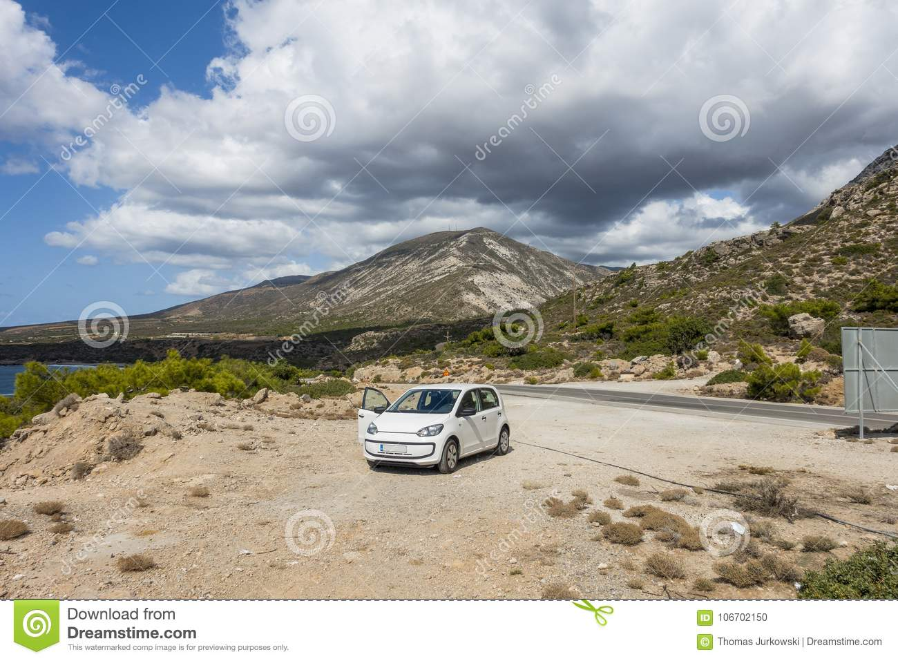 Mountains of Crete stock photo  Image of dangerous, holidays - 106702150