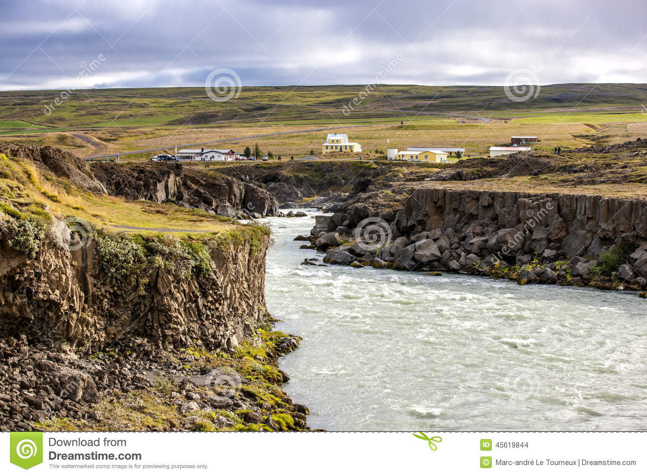Landscape near godafoss warerfall in iceland stock photo for Nearby landscapers