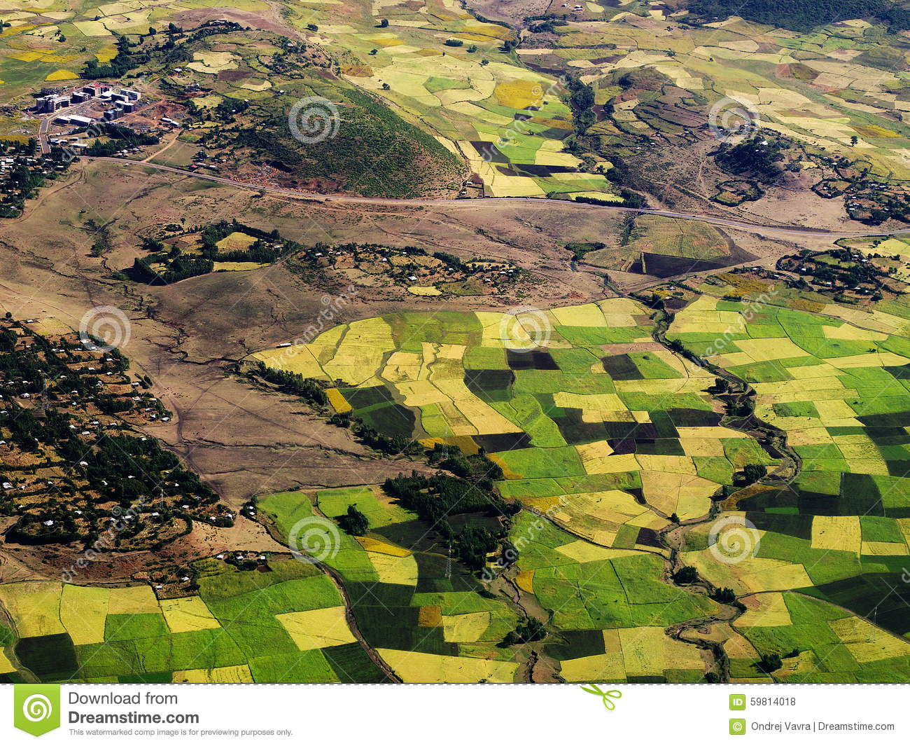 Landscape near gondar ethiopian highlands stock photo for Nearby landscapers