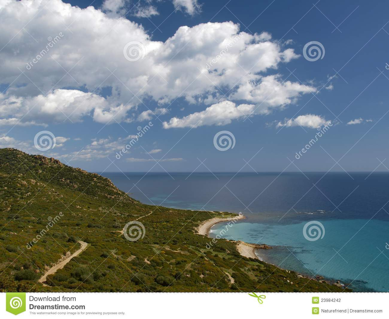 Landscape near villasimius sardinia italy stock for Nearby landscapers