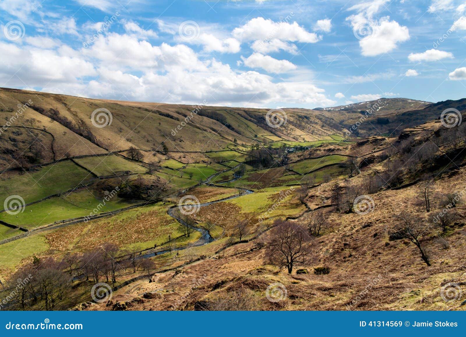 Landscape of Newlands Beck Valley -Lake District
