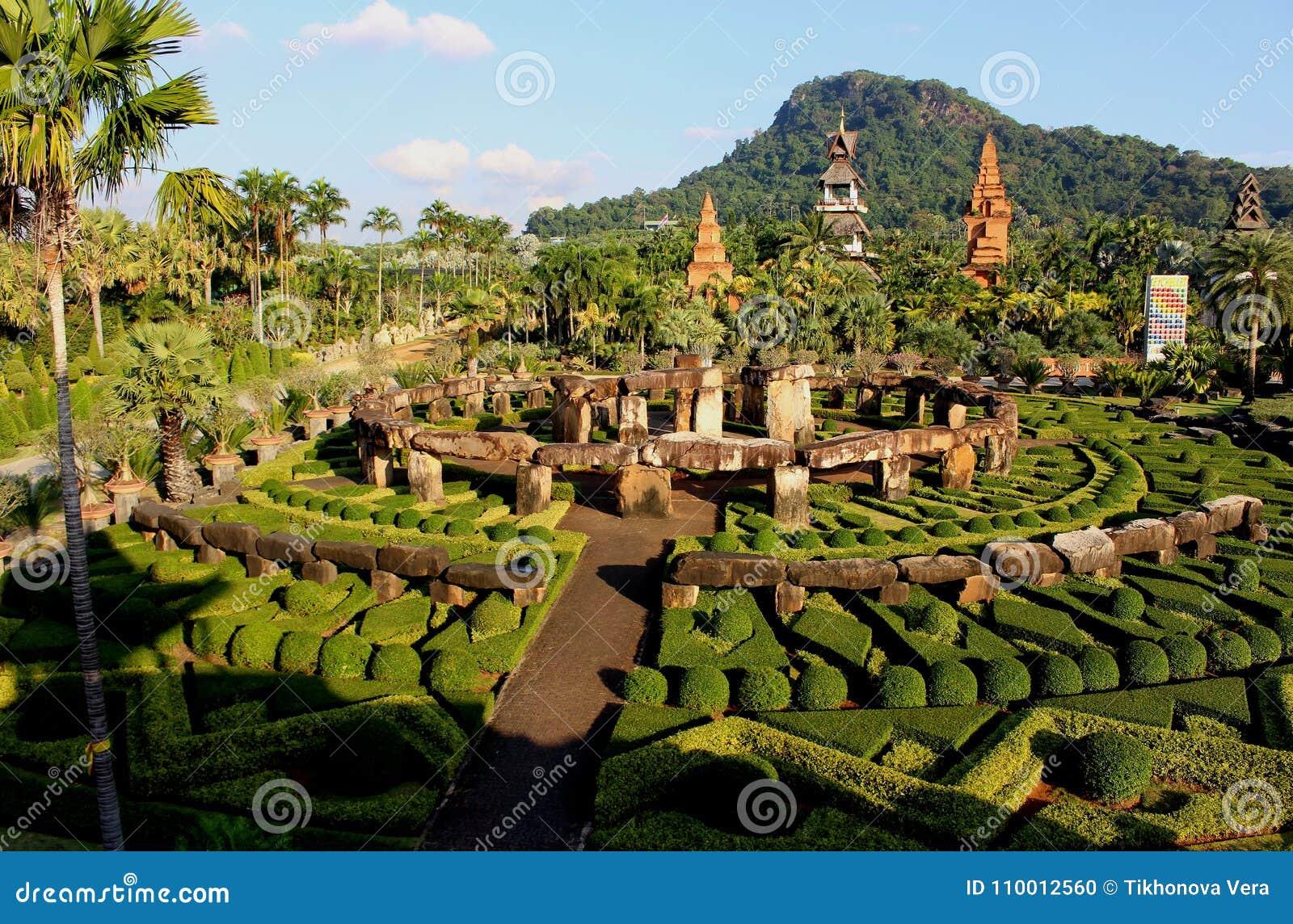 Landscape Nong Nooch Tropical Botanical Garden.