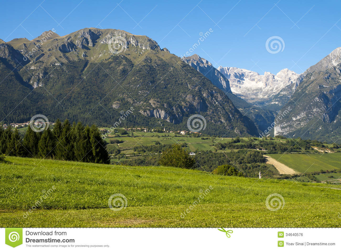 Landscape North Italy Stock Photo Image Of Scenic Meadow