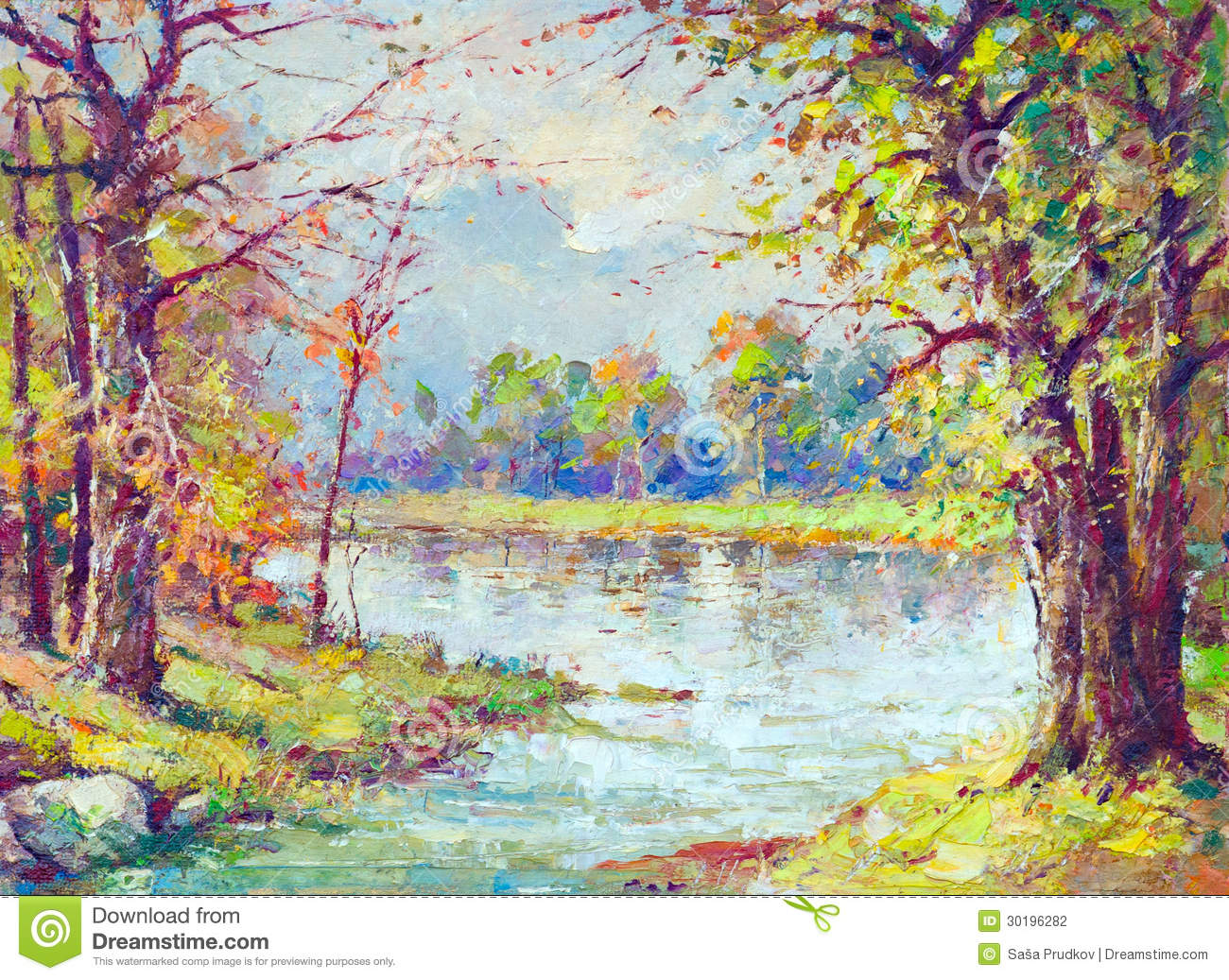 spring motif painting landscape - photo #12