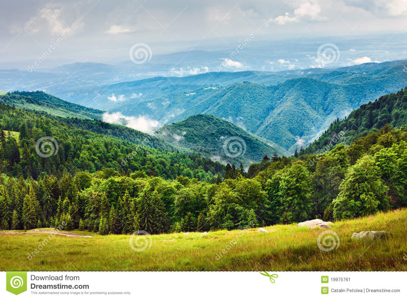 Landscape with parang mountains in romania stock image for Romania landscape
