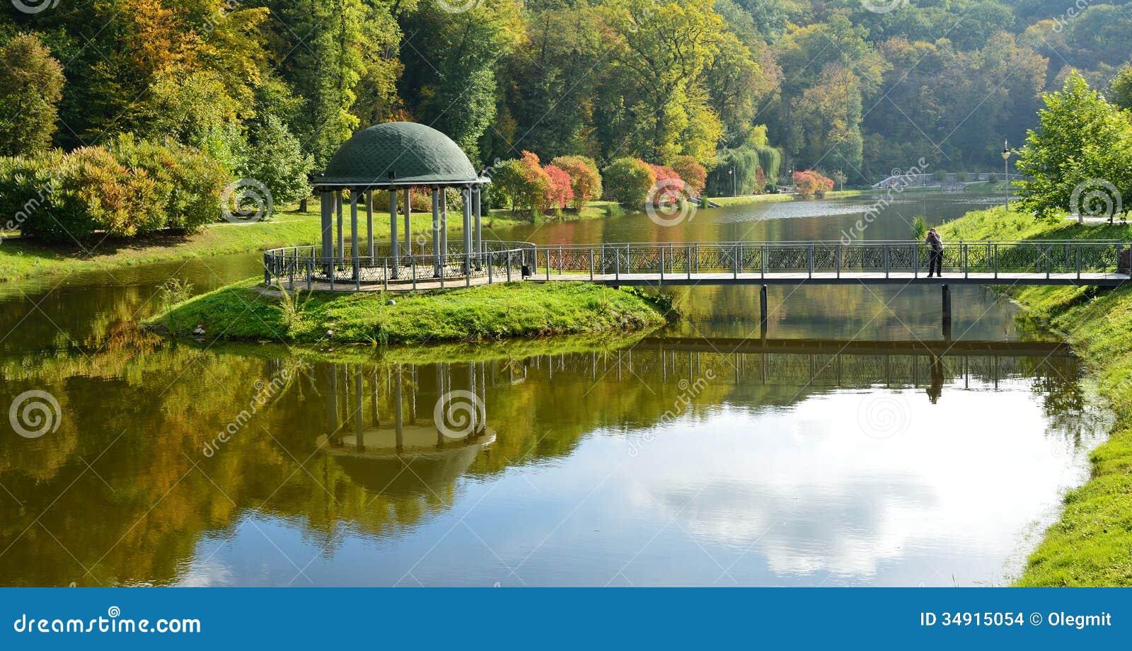 Landscape park in autumn stock photo image of autumn for Sample garden landscape