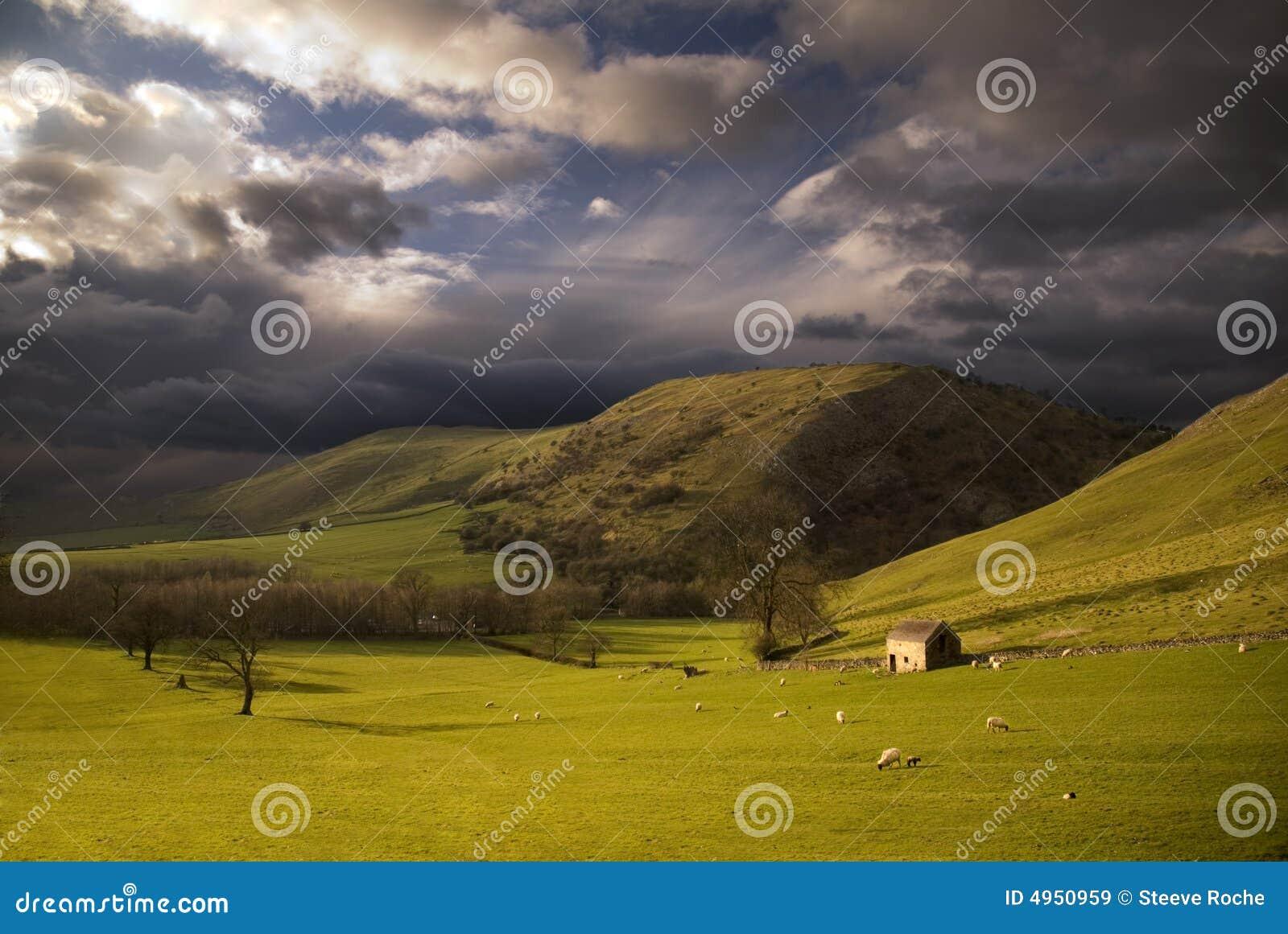 Landscape in Peak District. England